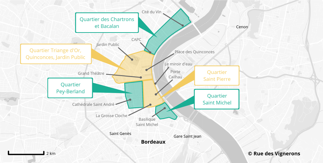 Carte Ville Bordeaux Visite