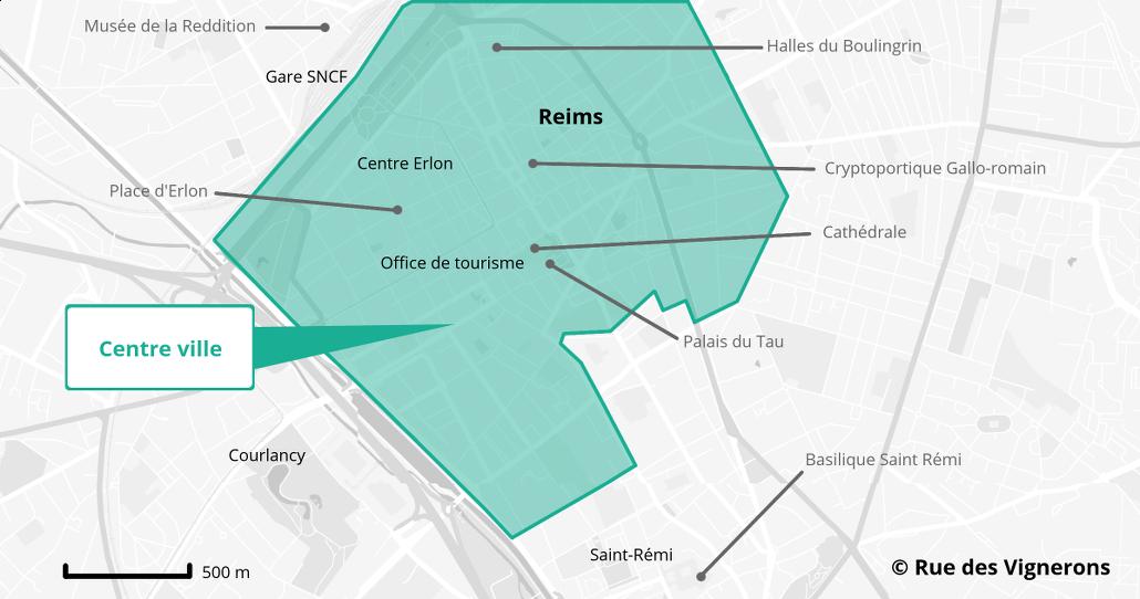 Carte Visite Reims Champagne De