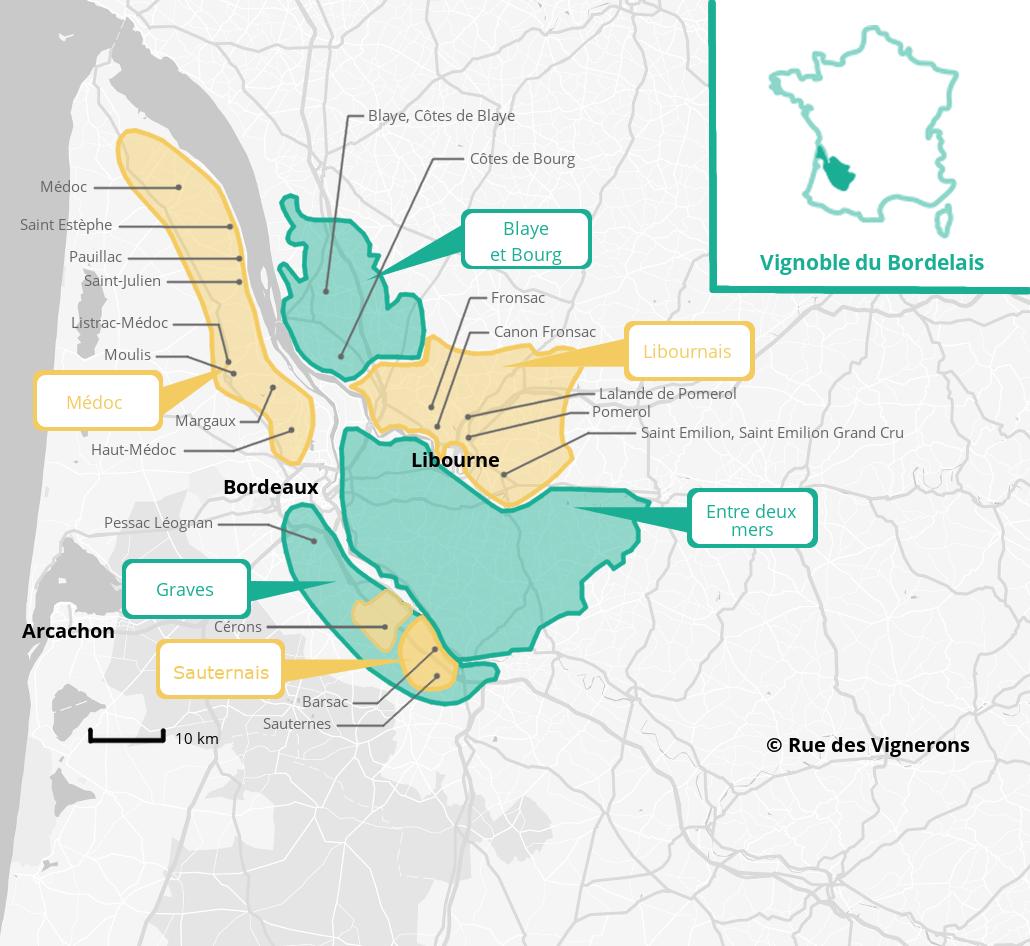 Carte vignoble bordeaux, appellations bordelais, carte appellations bordeaux, cépages bordeaux, bordeaux vin