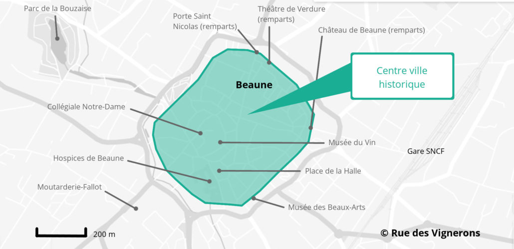 Carte de la ville de Beaune