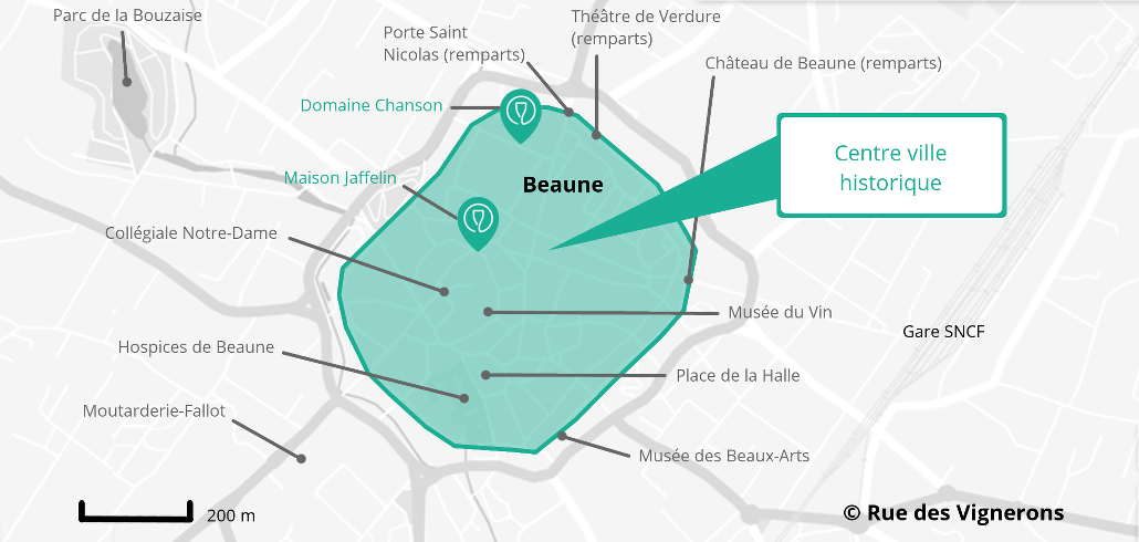 Carte ville beaune
