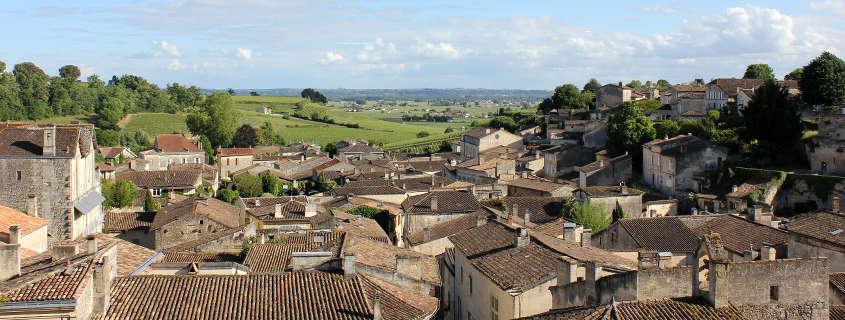 Saint Emilion vue cité médiévale