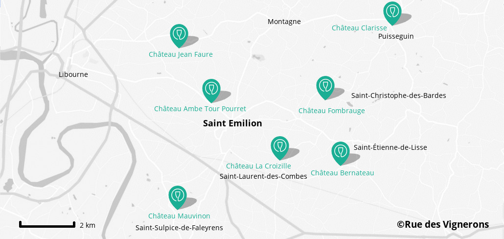 Domaines proches de Saint-Emilion, carte Domaines proches de Saint-Emilion, carte domaines saint emilion, dégustation vins saint emilion, carte chateaux saint emilion