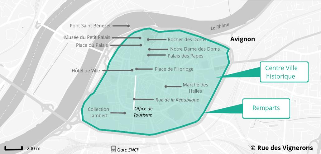 Carte Avignon