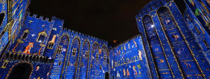 Avignon de nuit, les luminessences d'Avignon