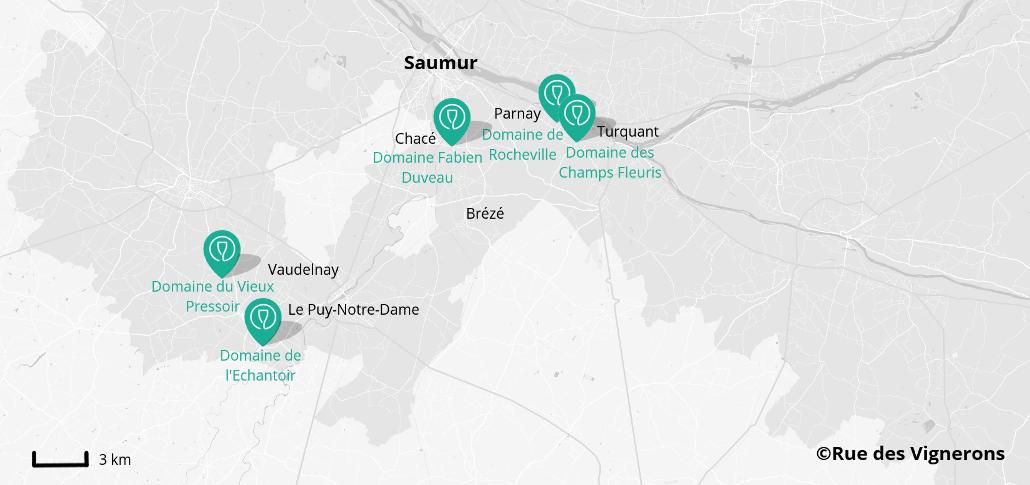 Caves proches de Saumur