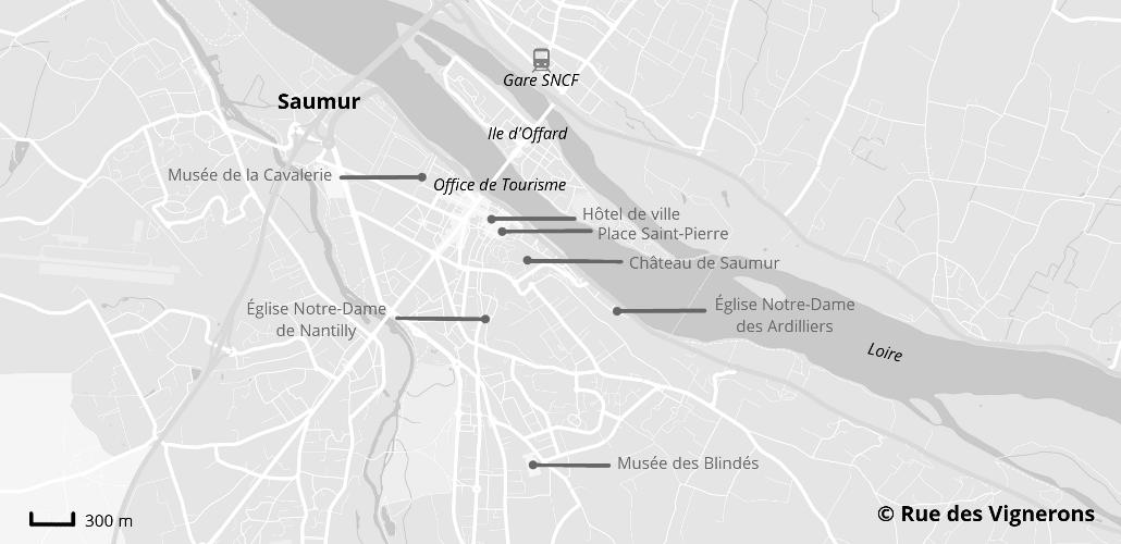 Carte ville de Saumur