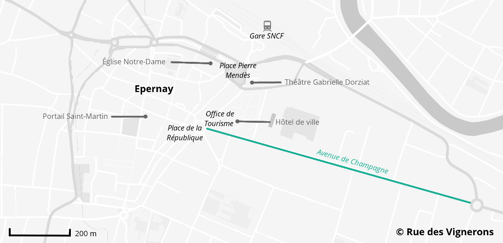 Carte ville d'Epernay