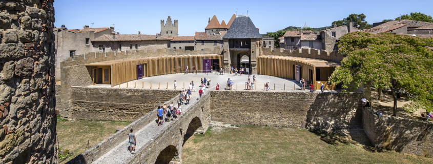 Barbacanne chateau comtal Carcassonne