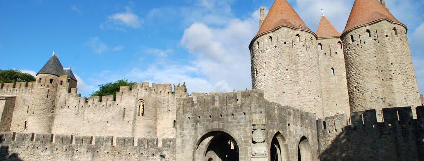 Porte Narbonnaise cité médiévale Carcassonne