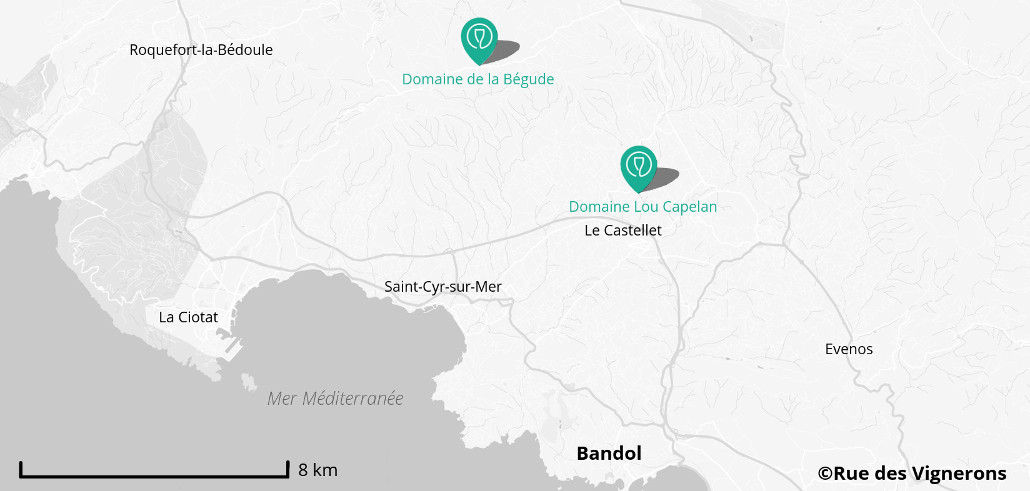 Domaines viticoles Bandol