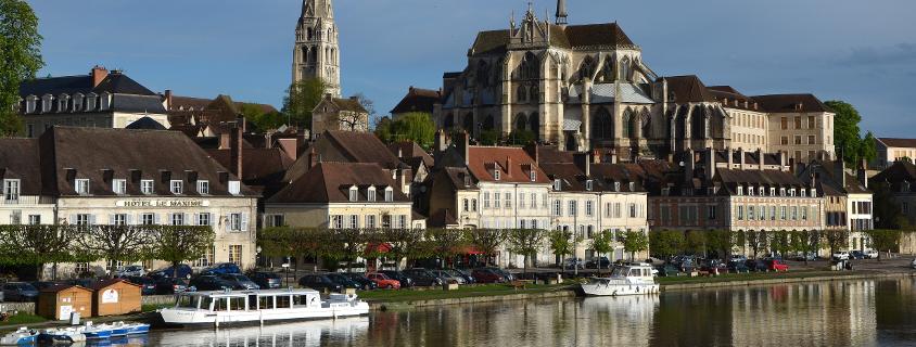 Vue d'Auxerre, Auxerre centre ville