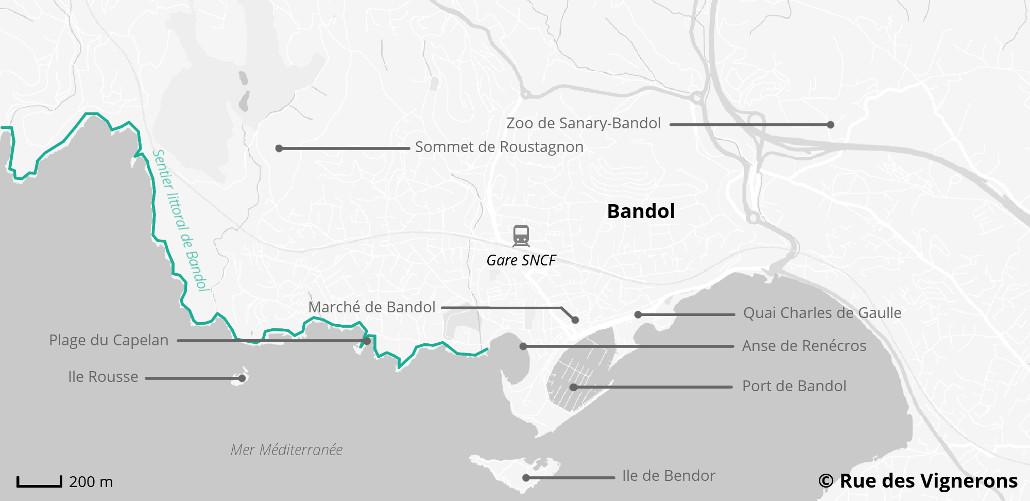 carte de Bandol