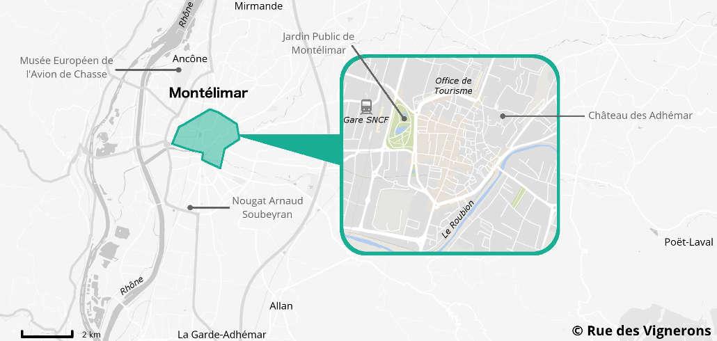 Carte de la Ville de Montélimar