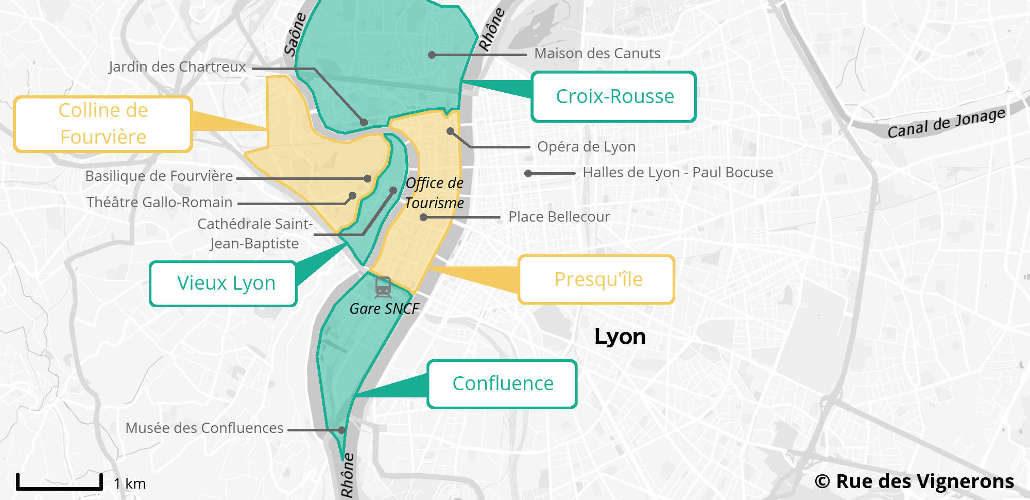Carte De La Ville Lyon