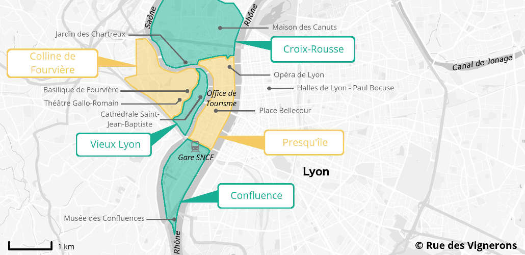 Carte centre ville Lyon