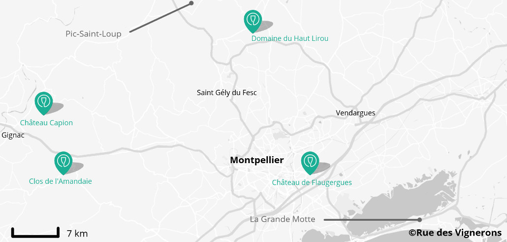 carte environs Montpellier, carte région montpellier