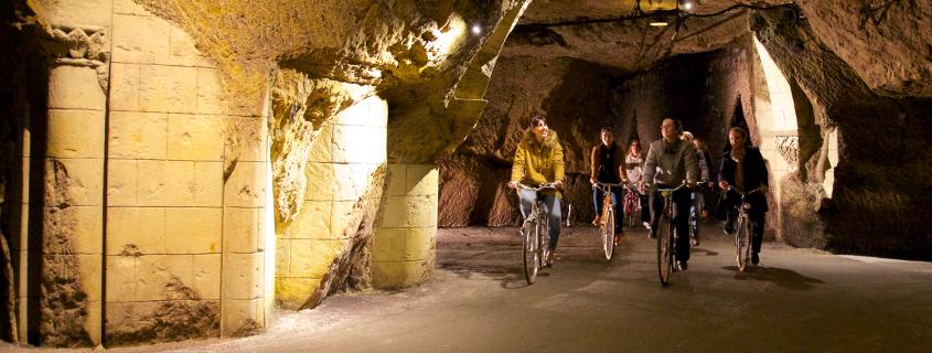 cave à vélo Bouvet Ladubay Saumur