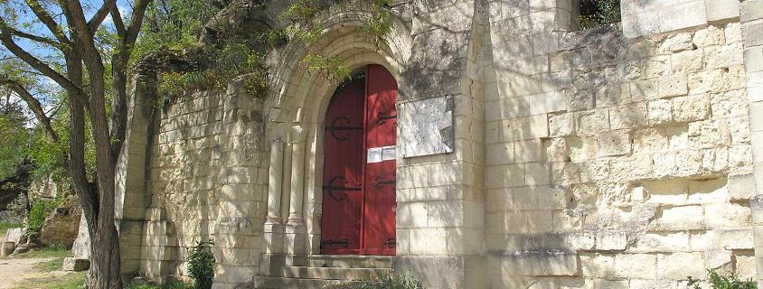 Extérieur de la Sainte Chapelle Radegonde Chinon
