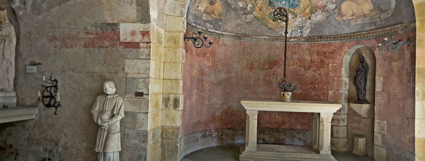 Intérieur de la Sainte Chapelle Radegonde Chinon