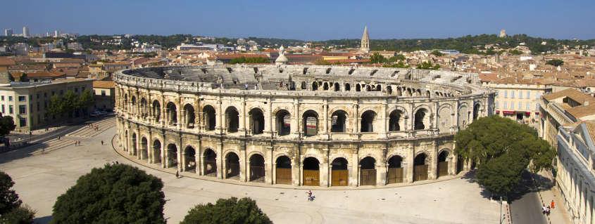 Ville Nîmes, arenes de nimes