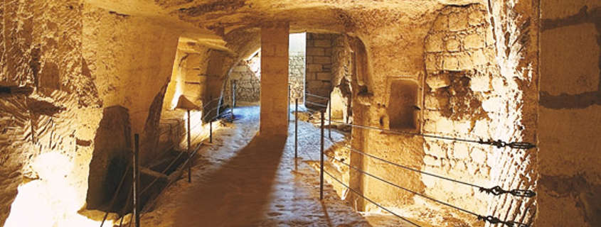Catacombs and undergrounds Saint Emilion France