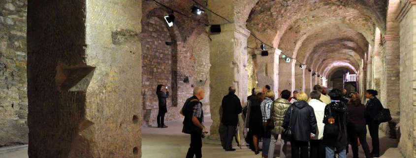 Gallo roman cryptoporticus Reims France