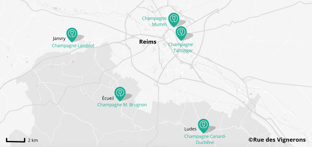 reims winery map, champagne houses reims france, map of champagne houses reims, vineyard map reims, best champagne tours reims france