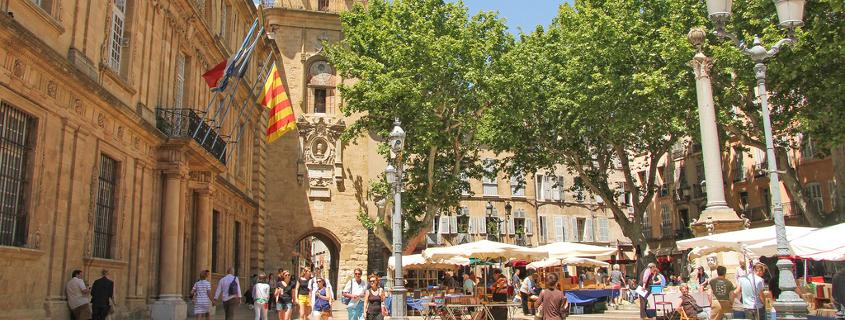 city hall square aix en provence
