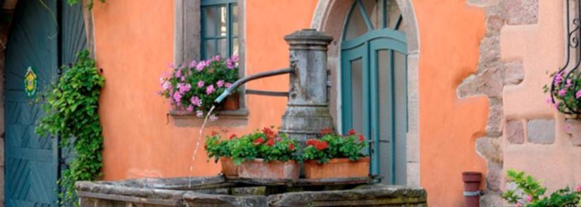 fontaine bergheim, ville de bergheim, bergheim route des vins