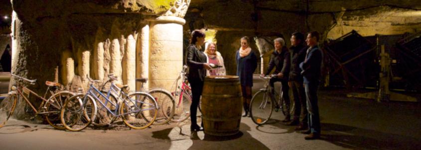 bouvet ladubay winery, sparkling wine house saumur, visit brut de loire saumur, wine tasting saumur, cellar bike tour saumur
