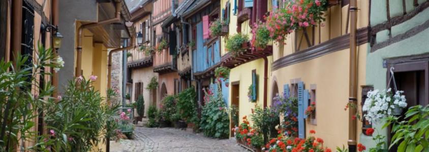 eguisheim plus beau village alsace, plus beaux villages routes des vins d'alsace, eguisheim route des vins