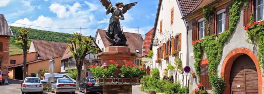 pfaffenheim route des vins, pfaffenheim village alsace