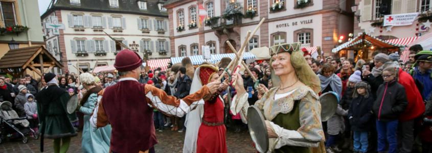 Marché de Noël Ribeauvillé, ribeauvillé marche de noel costumé, ribeauvillé noel moyen age