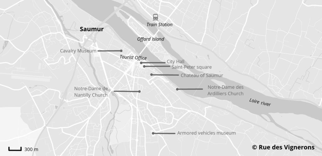 Saumur city map, saumur tourist map, saumur map of the city, saumur map