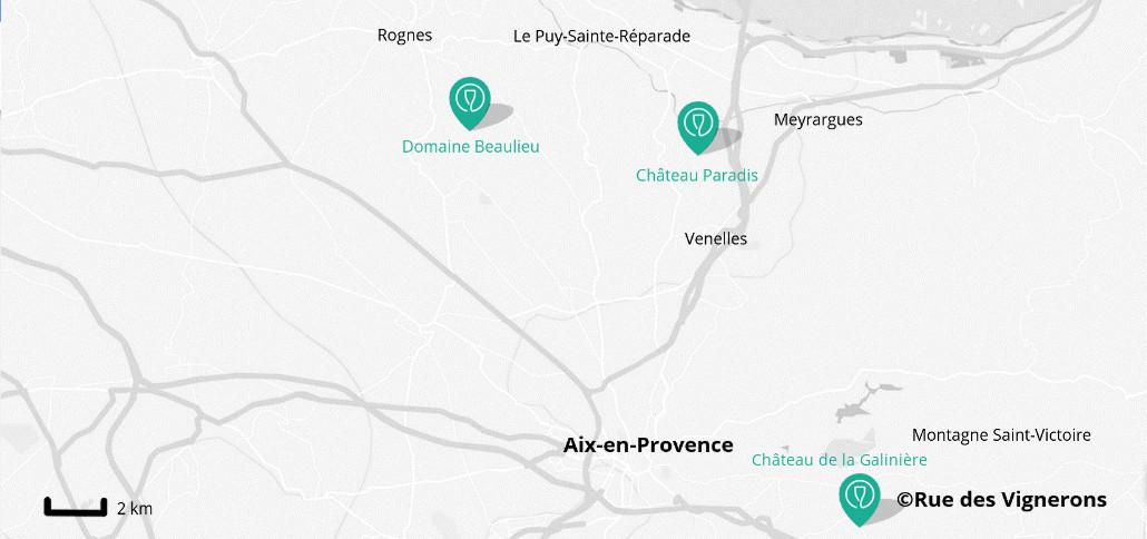 Vineyard close to Aix-en-Provence, wineries aix en provence, wine tasting aix en provence