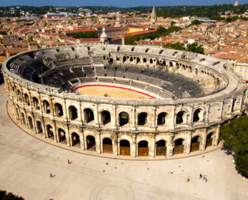 Arenes Nimes, visiter nimes