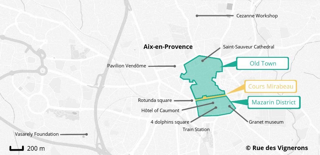 Aix-en-Provence city map, aix city map, aix tourist map, aix-en-provence city map