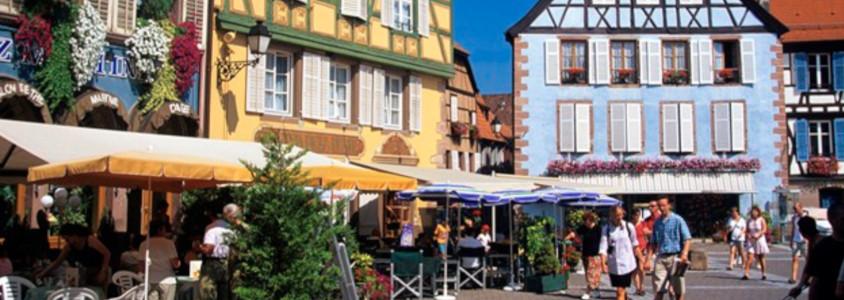 ribeauville route de vins d'alsace, ribeauvillé village alsace