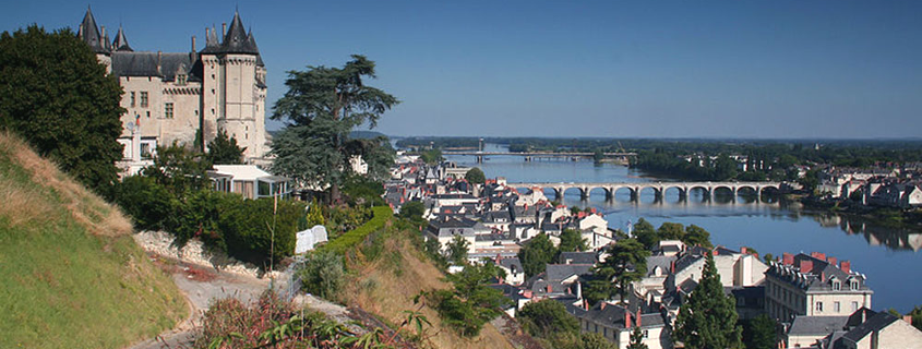 view on saumur old town
