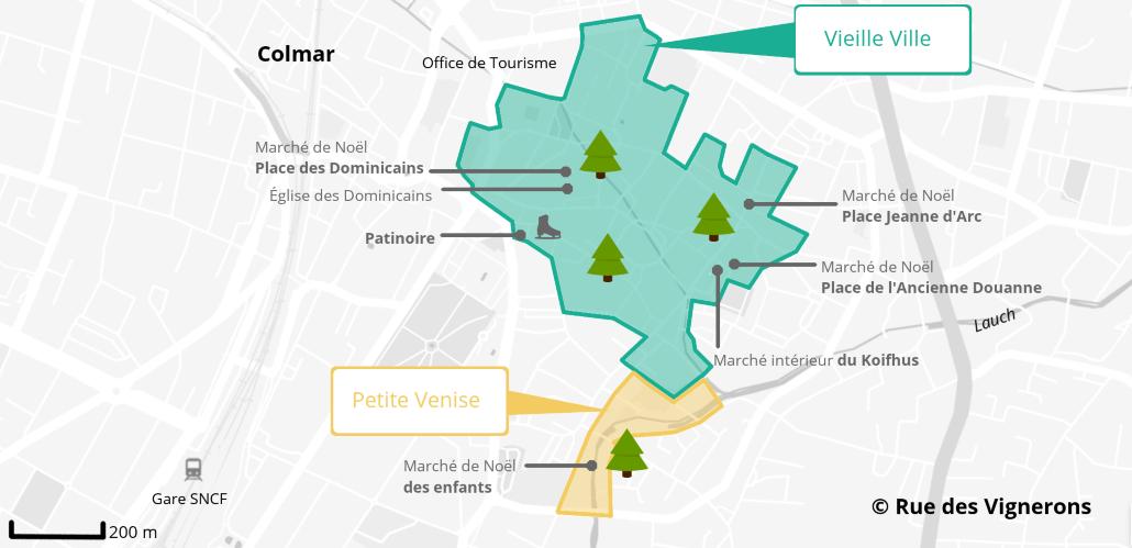 Carte Colmar marché de noel, Carte Colmar marché de noel 2018, plan colmar marché noel, plan colmar marché noel 2018