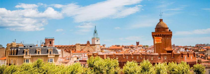 Perpignan France, ville de perpignan, visiter perpignan, perpignan le castillet, vue sur perpignan
