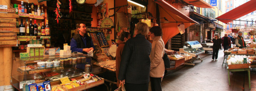 Rue Paratilla Perpignan, rue des épices perpignan, rue des olives perpignan, marché perpignan