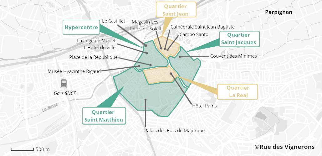 Ville de Perpignan, vieille ville de perpignan, carte touristique perpignan, carte de la ville de perpignan, perpignan carte, perpignan itinéraire, perpignan les quartiers