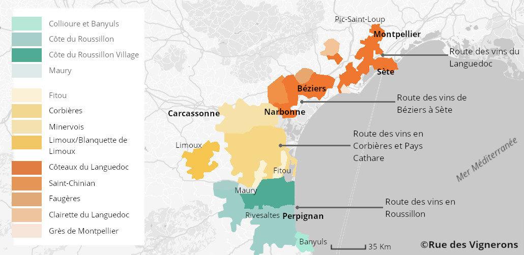 Route Des Vins Du Languedoc Roussillon Guide Circuit Et Itineraire