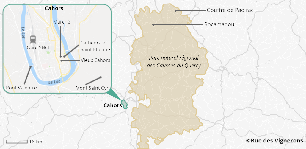 Carte de la ville de Cahors, cahors ville, ville cahors, cahors, cahors france, carte cahors