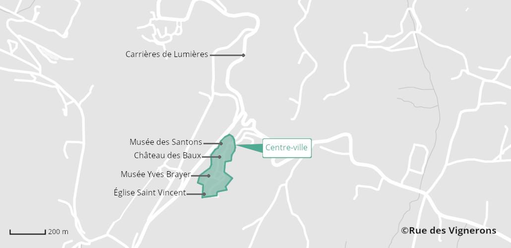Carte les Baux de Provence