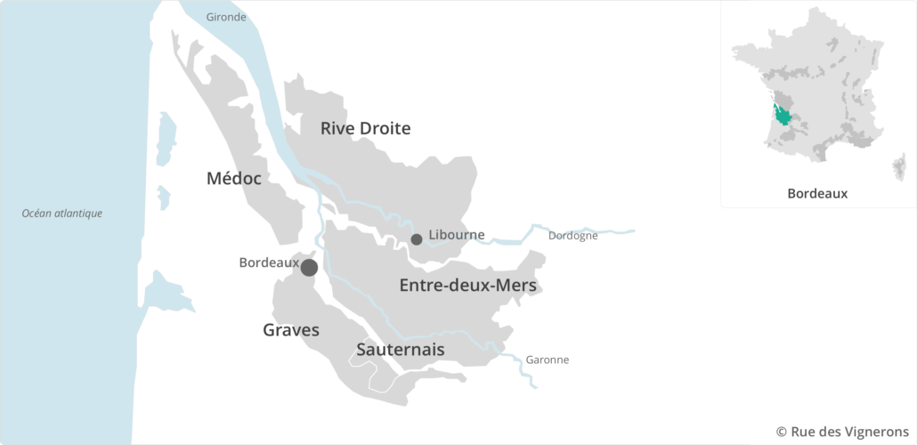 Carte vignoble bordeaux, appellations bordelais, carte appellations bordeaux, cépages bordeaux, bordeaux vin