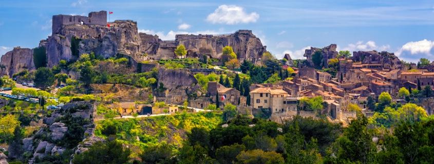 Vue sur les Baux de Provence