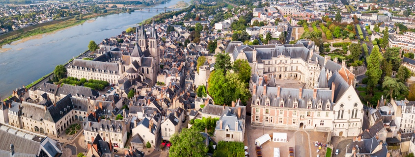 Vue aérienne Blois